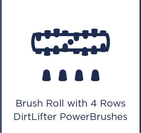 Brush roll with 4 rows DirtLifter PowerBrushes