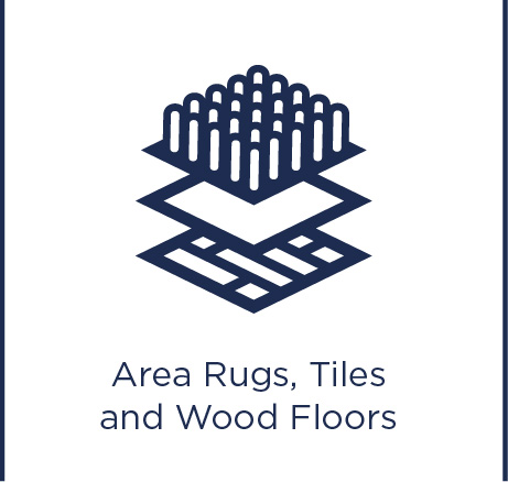 Area rugs, tiles and wood floors