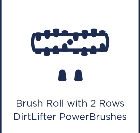 Brush roll with 2 rows DirtLifter PowerBrushes